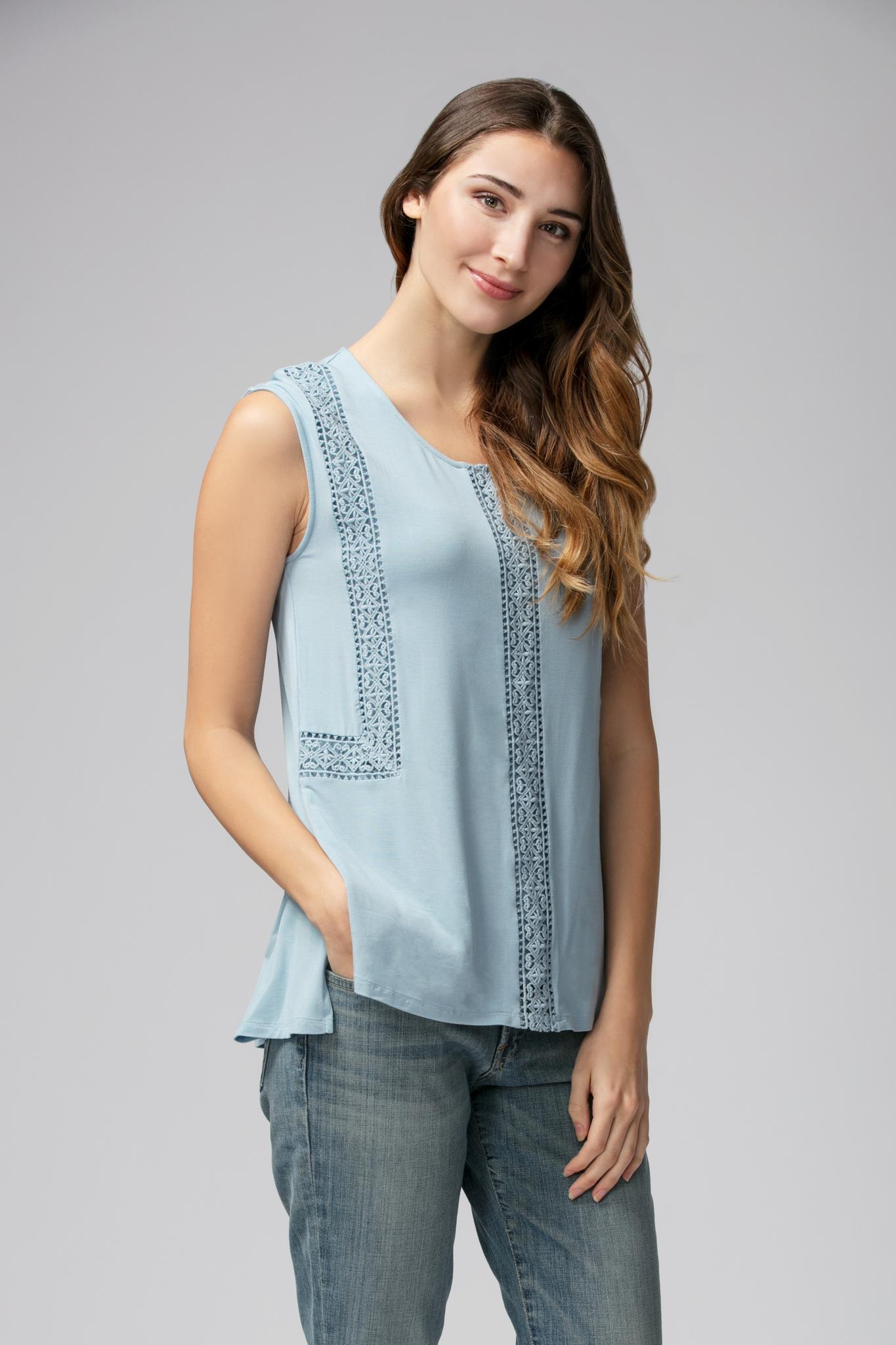 Rosanna Crochet Trim Top