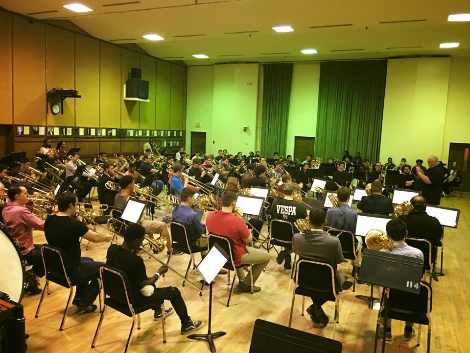 2017 FSU Trombone Day ensemble rehearsal