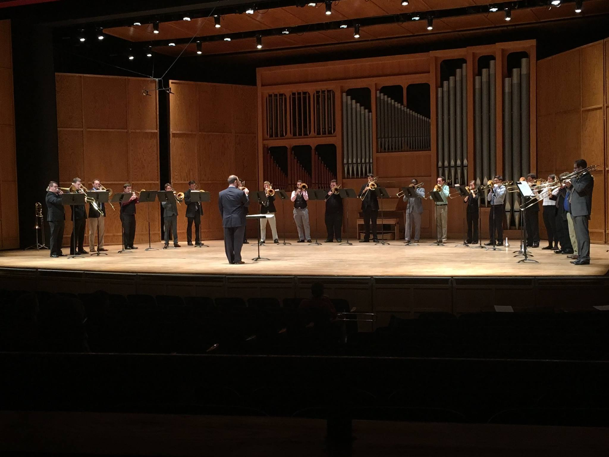 FSU Trombone Choir in concert with Christopher conducting