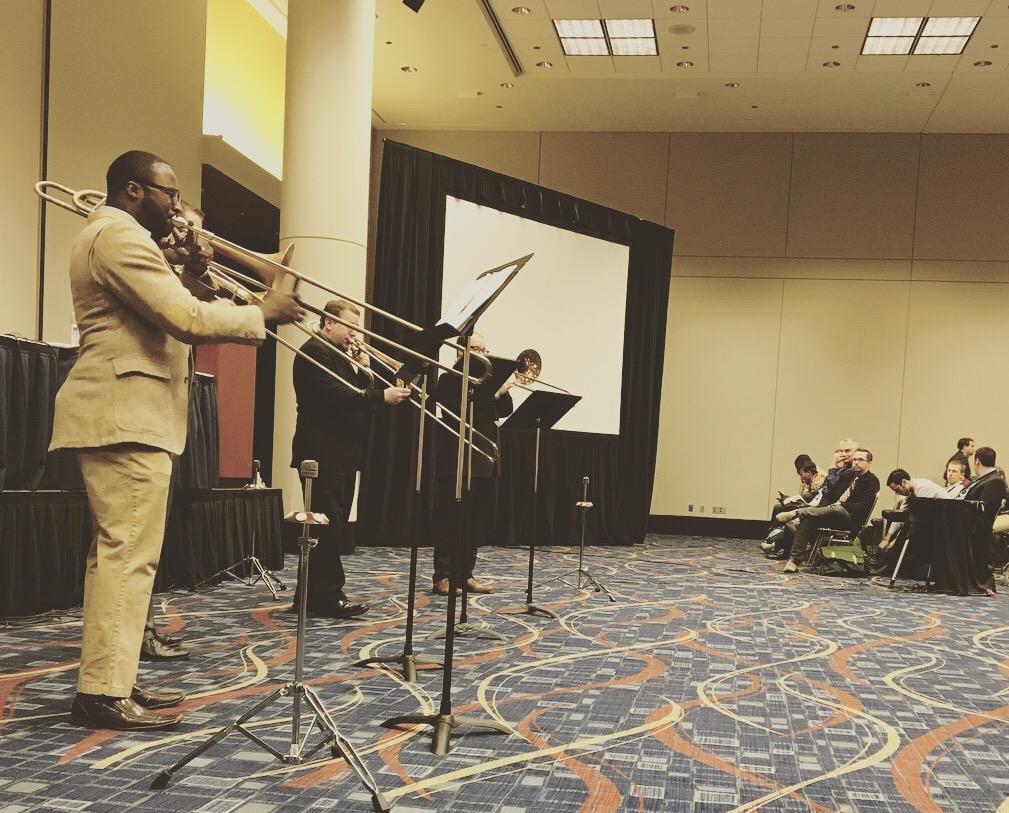Seminole Trombone Quartet at the Midwest Clinic