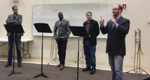 Seminole Trombone Quartet at the Merit School of Music in Chicago