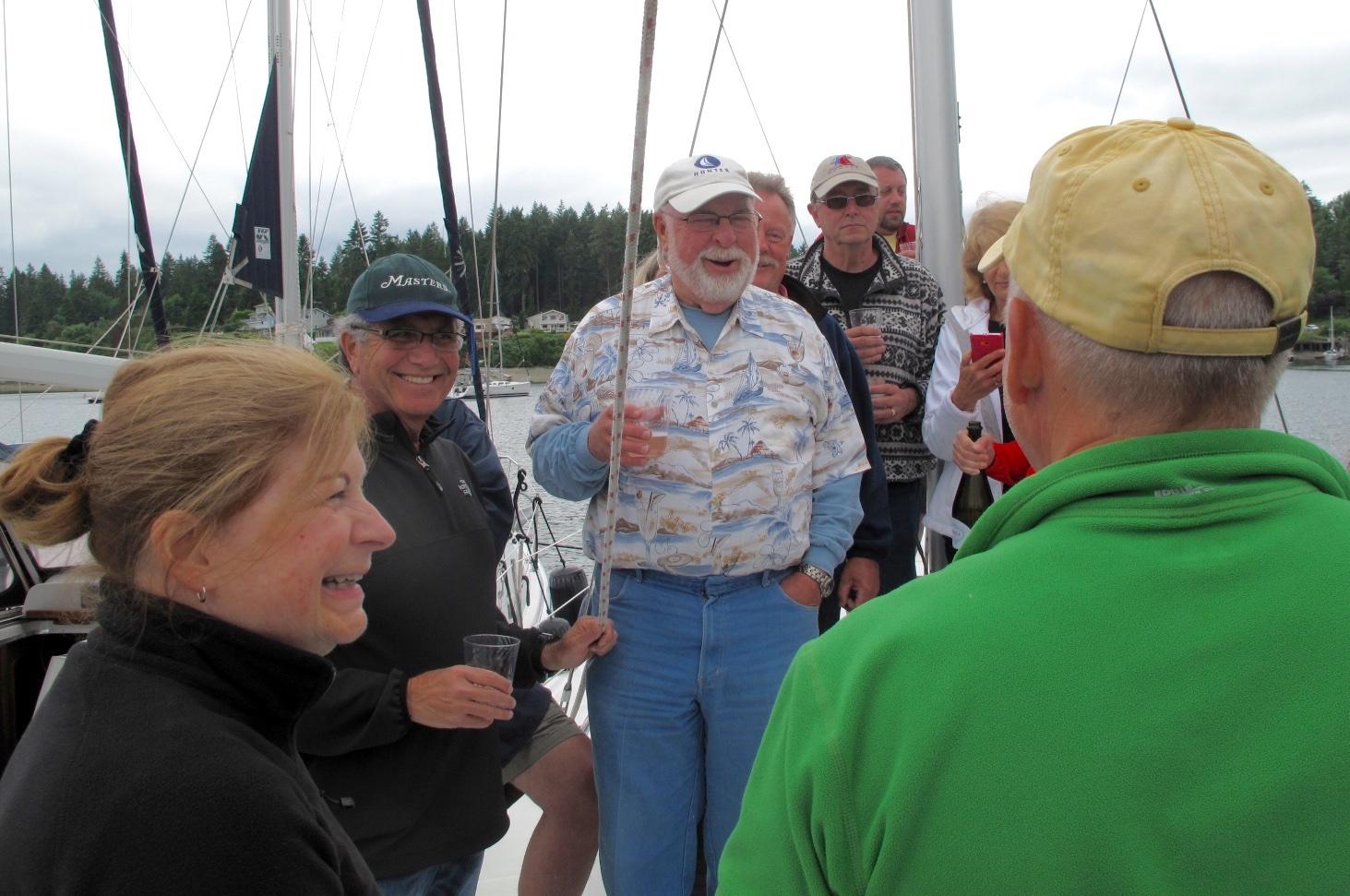 Boat renaming ceremony, Longbranch