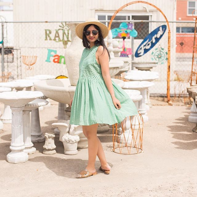 Spinning around in my summertime uniform ☀️ #shopthekayes