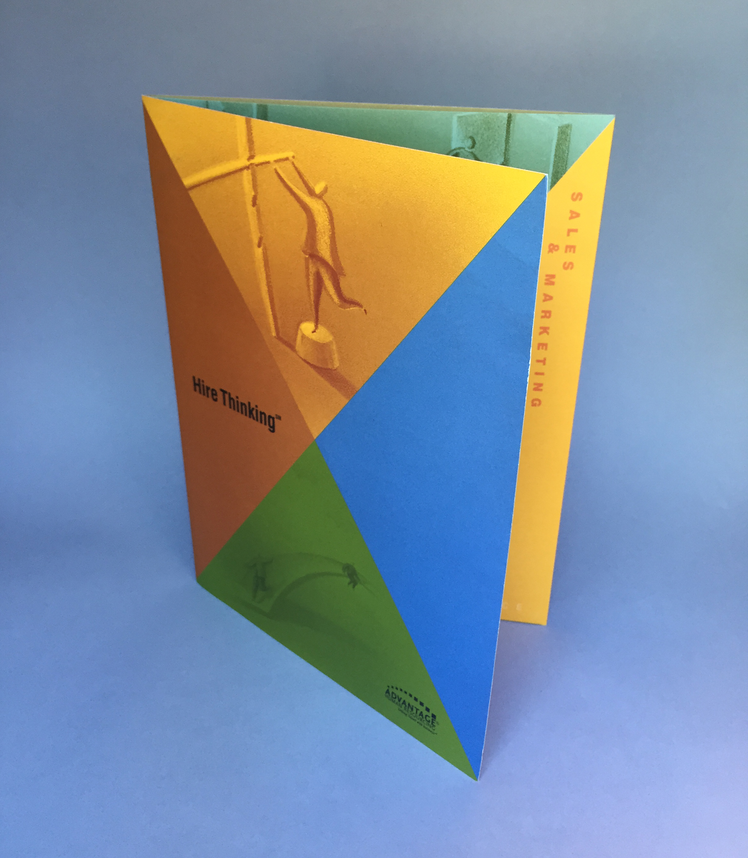 Advantage Human Resources:   Brochure and folder  Agency:  Snyder Group  Art Director:  Carey Gerwig Jones