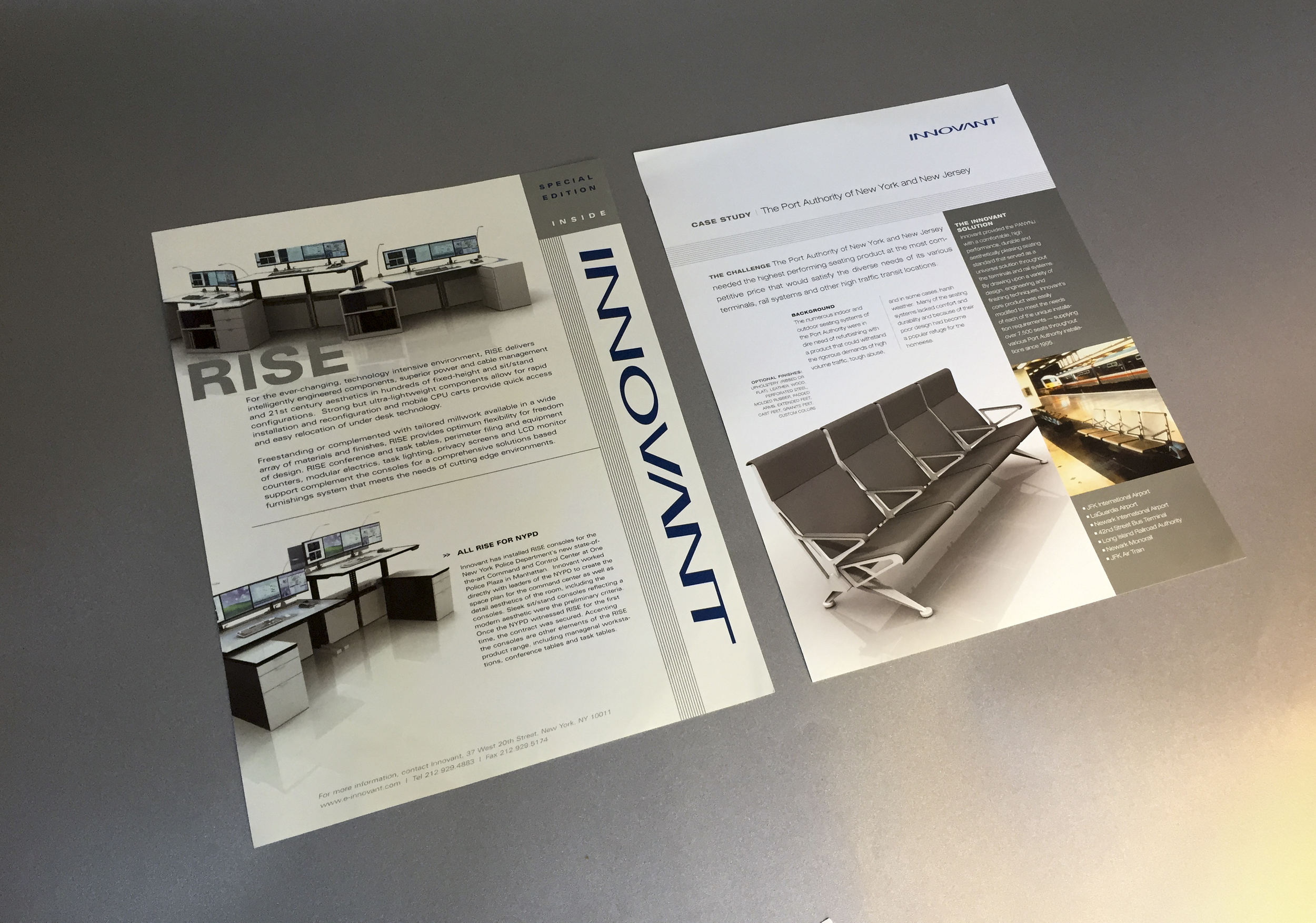 Innovant:  High end furniture company sales collateral