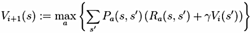 Value iteration algorithm to be solved.