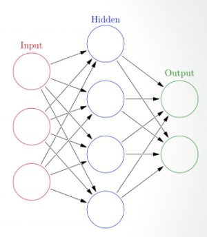 Common representation of the neural network nodes.