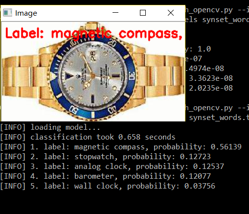 OpenCV result for a watch figure