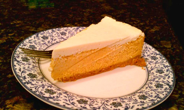 Pumpkin Cheesecake   If you love pumpkin or cheesecake, this is a must for your holiday table. It has a creamy pumpkin filling, a sour cream topping, and the crust is made from our best-selling Molasses Ginger Cookies. $32