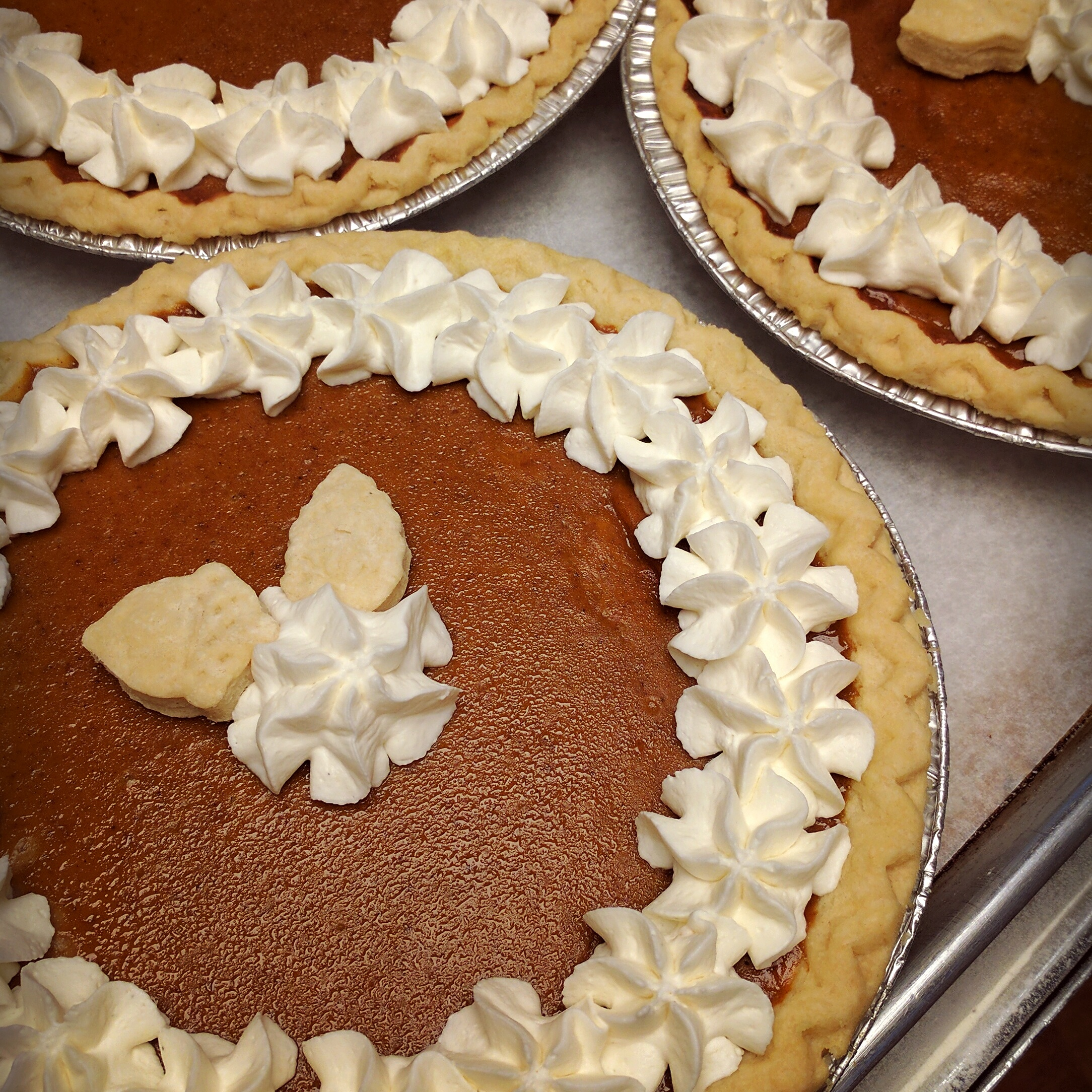 Pumpkin   Rich and smooth,with the perfect blend of spices, the season is not complete without pumpkin pie. $18
