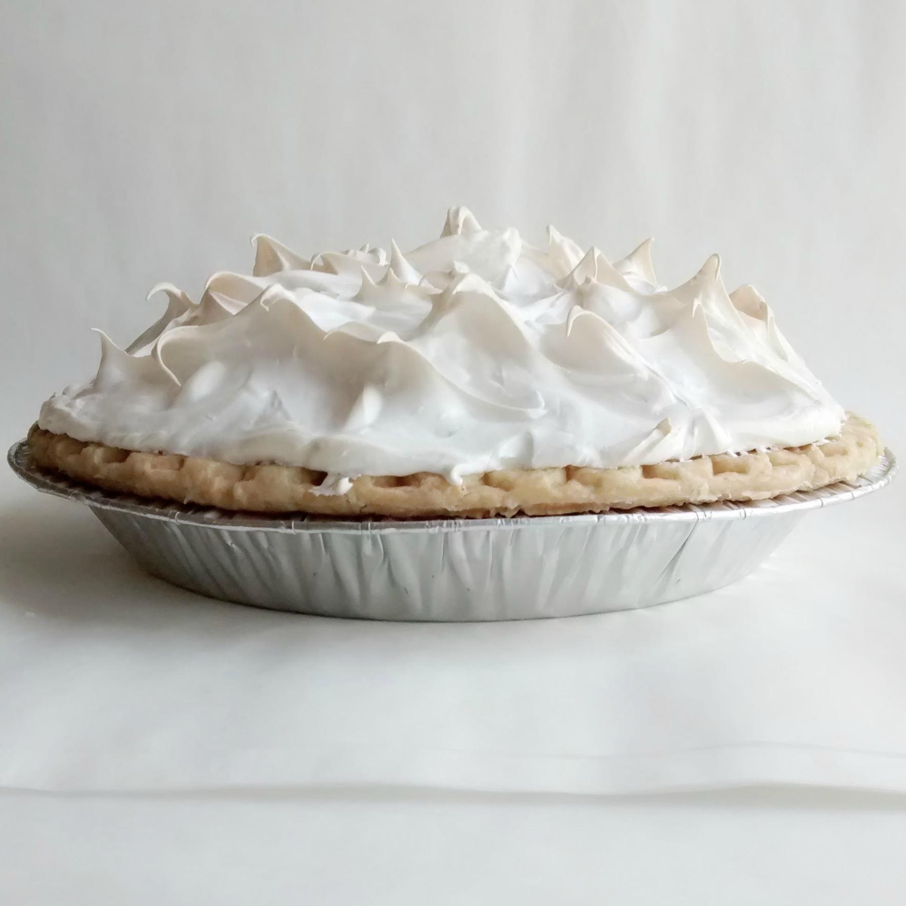 Lemon Meringue   Mile-high meringue, anyone? Our Lemon Meringue pie is sweet, tart, and oh-so delicious! $18