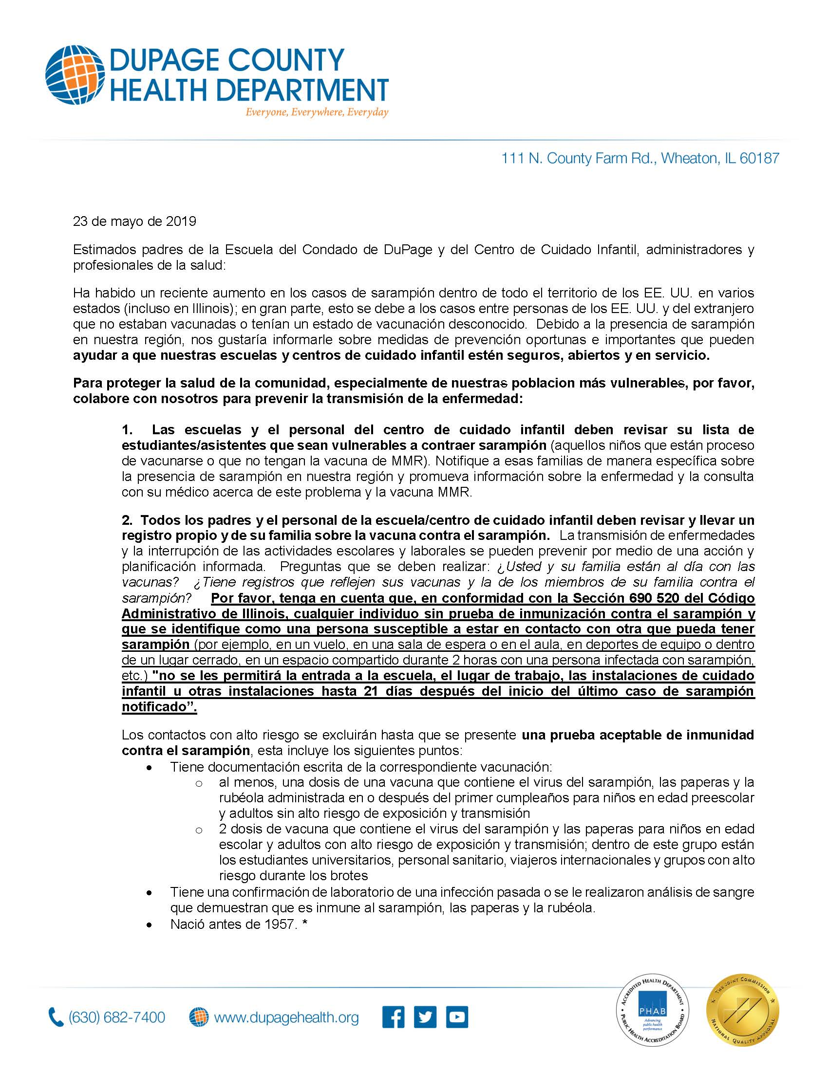 Measles_SchoolsandChildCareCentersLetter_Spanish_May232019_Spanish_Page_1.jpg