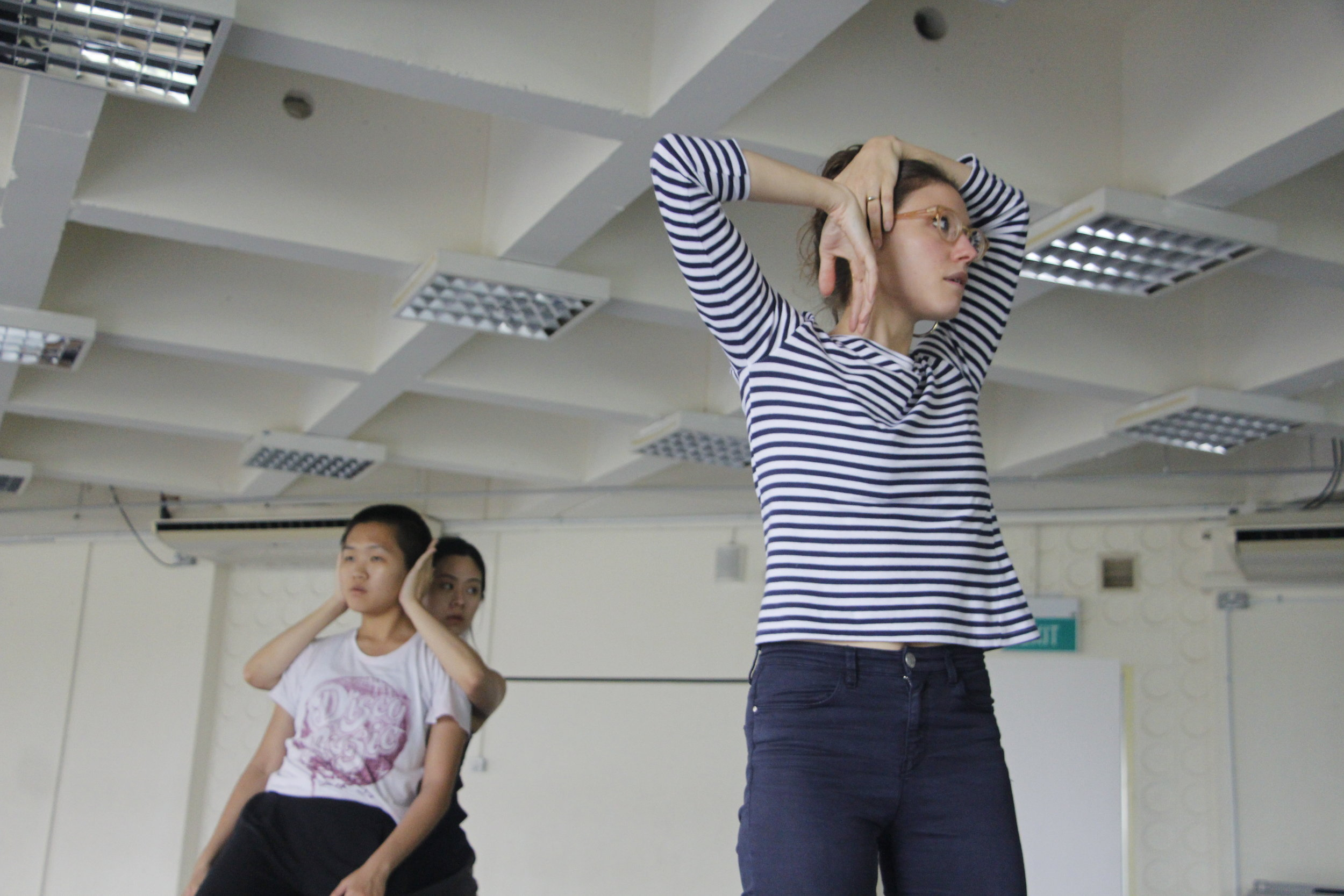 The Shyness of Trees  rehearsal, Borderline & Lucy Marinkovich.