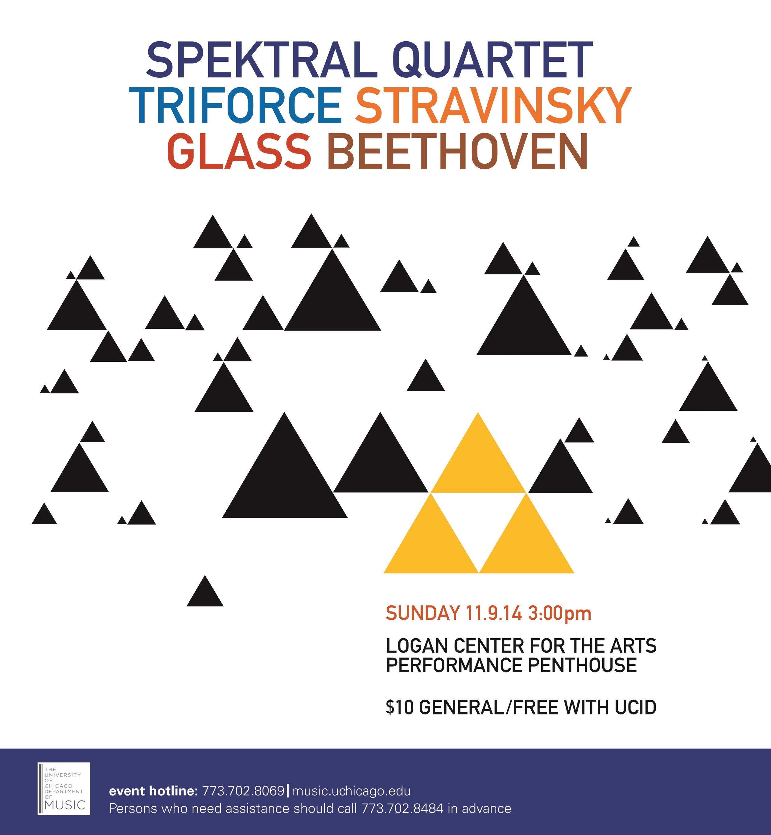 Triforce: Stravinsky, Glass, Beethoven