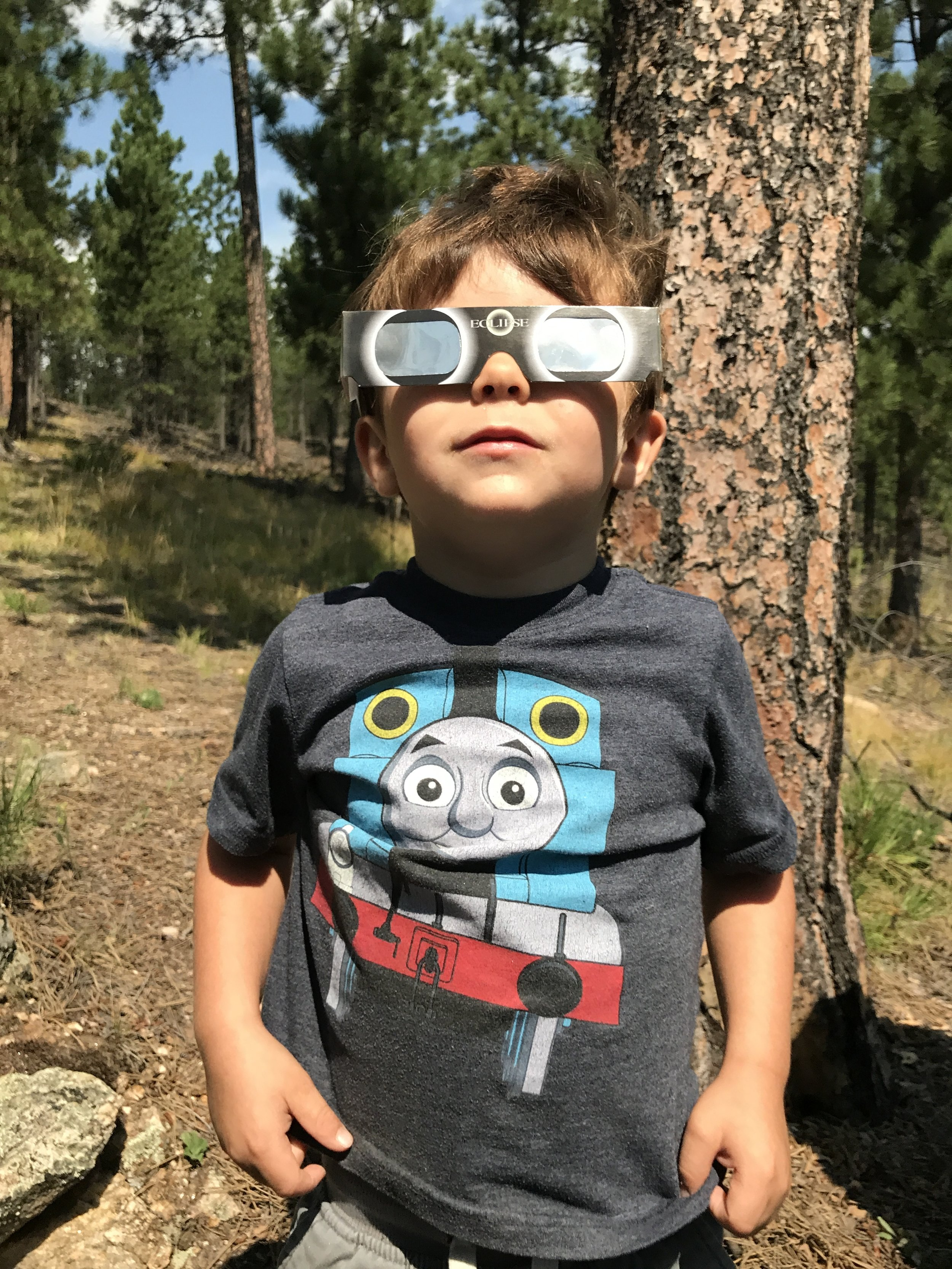 I told my son that I caused the eclipse...because I did.