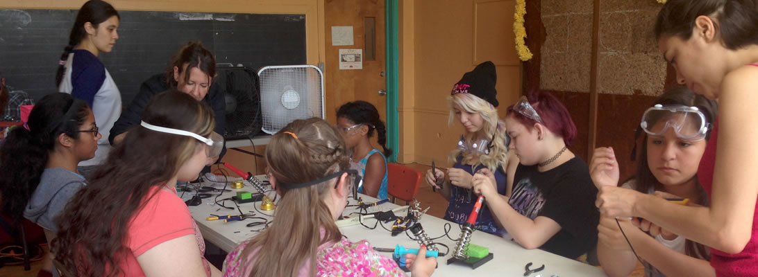 "A photo from TECHNE's program with ""Girls Rock! Chicago"""