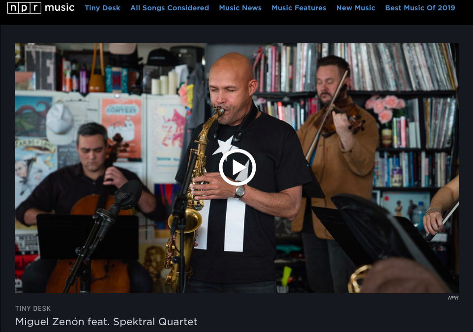 Miguel Zenón & Spektral at NPR's 'Tiny Desk Concerts'