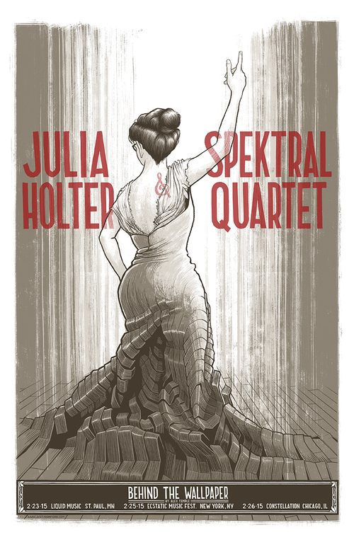 The first tour for 'Behind the Wallpaper' in 2015  (poster by Justin Santora)