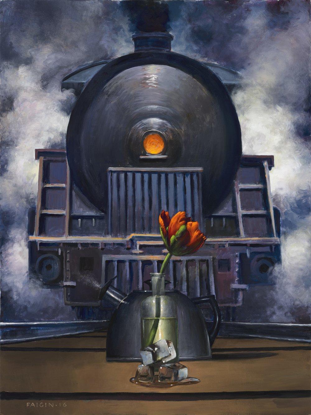 "Gary Faigin    ""The Water Cycle""   Acrylic on canvas, 30"" x 40"""