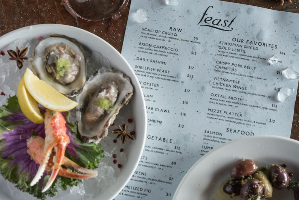 Oysters and Crab Claws on Ice
