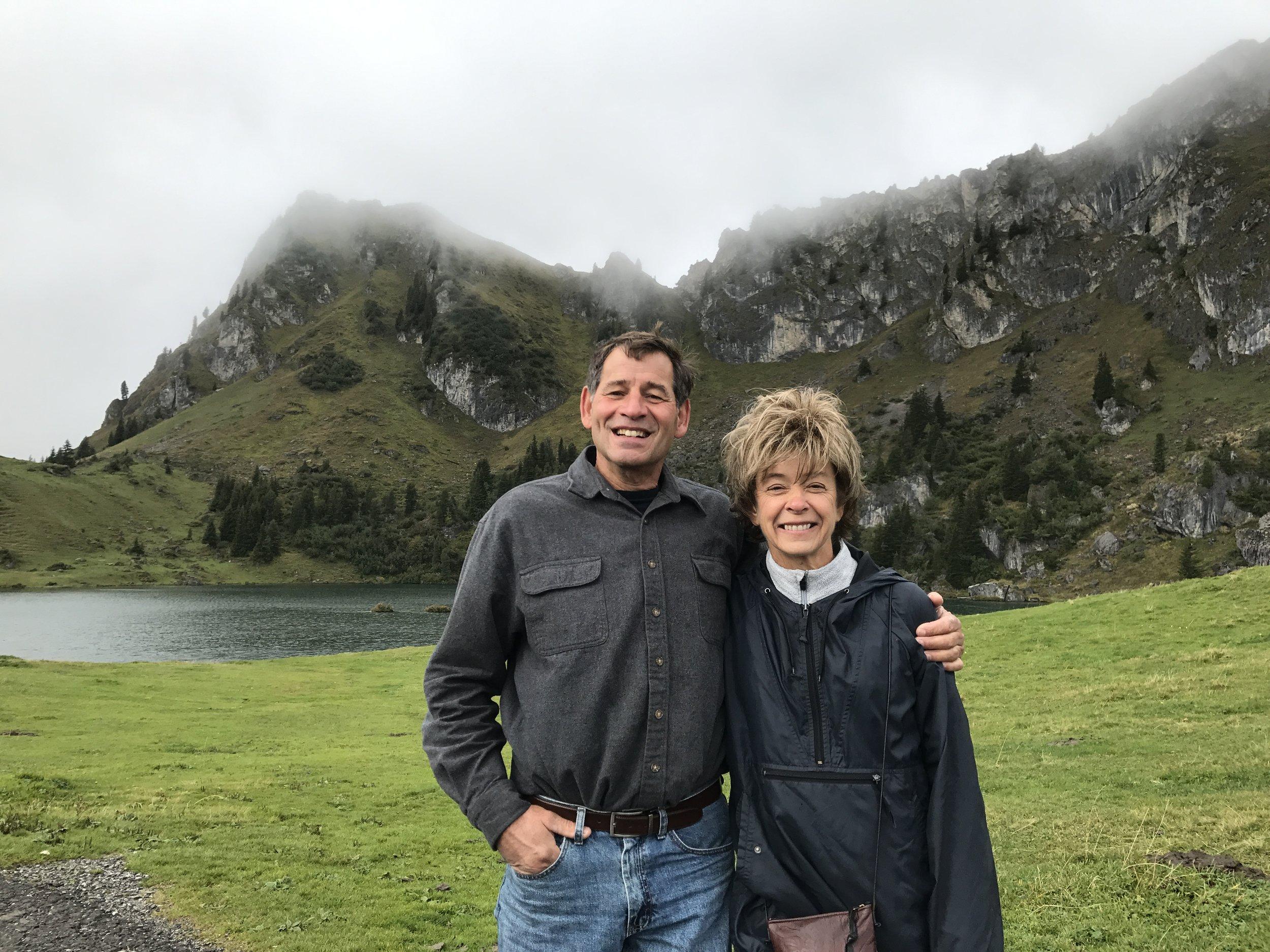 - September 2017: Jeff and Ann, at Seeberg See. From Interlaken to Gruyères to Alt Kombett:good times