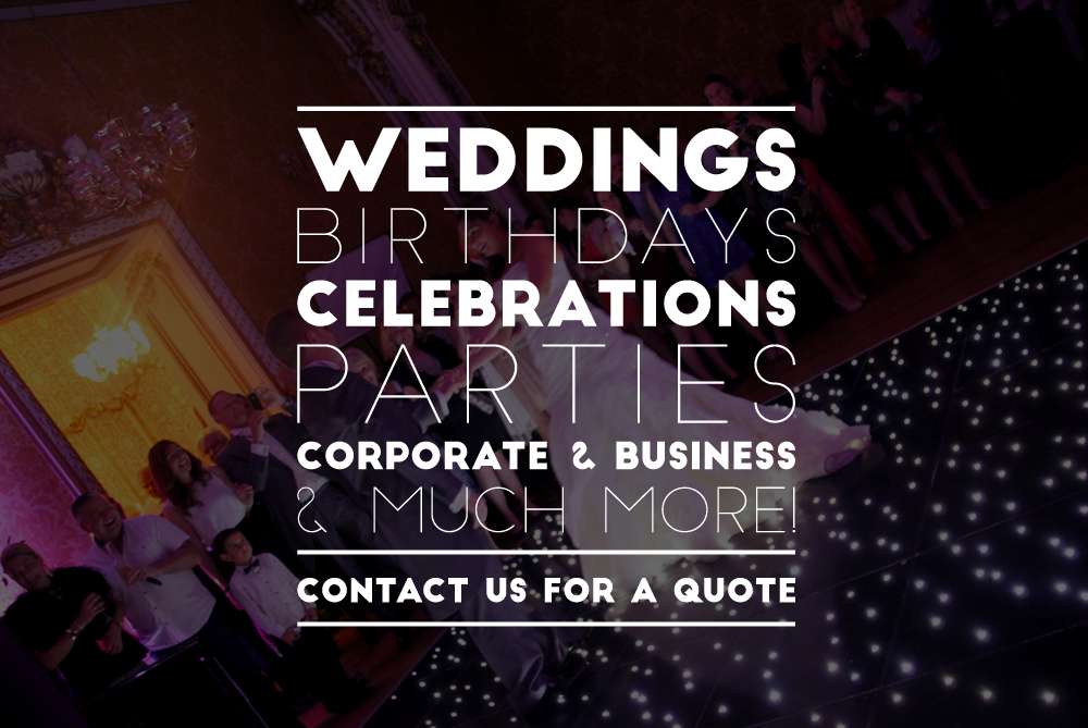 Hertfordshire based wedding and party DJ specialist. We put the fun into functions and always listen to your wishes. With our many years of experience and your vision we are the perfect supplier with our awesome lighting solutions and photobooths, led dance floors and giant LOVE lettering we will exceed your expectations.