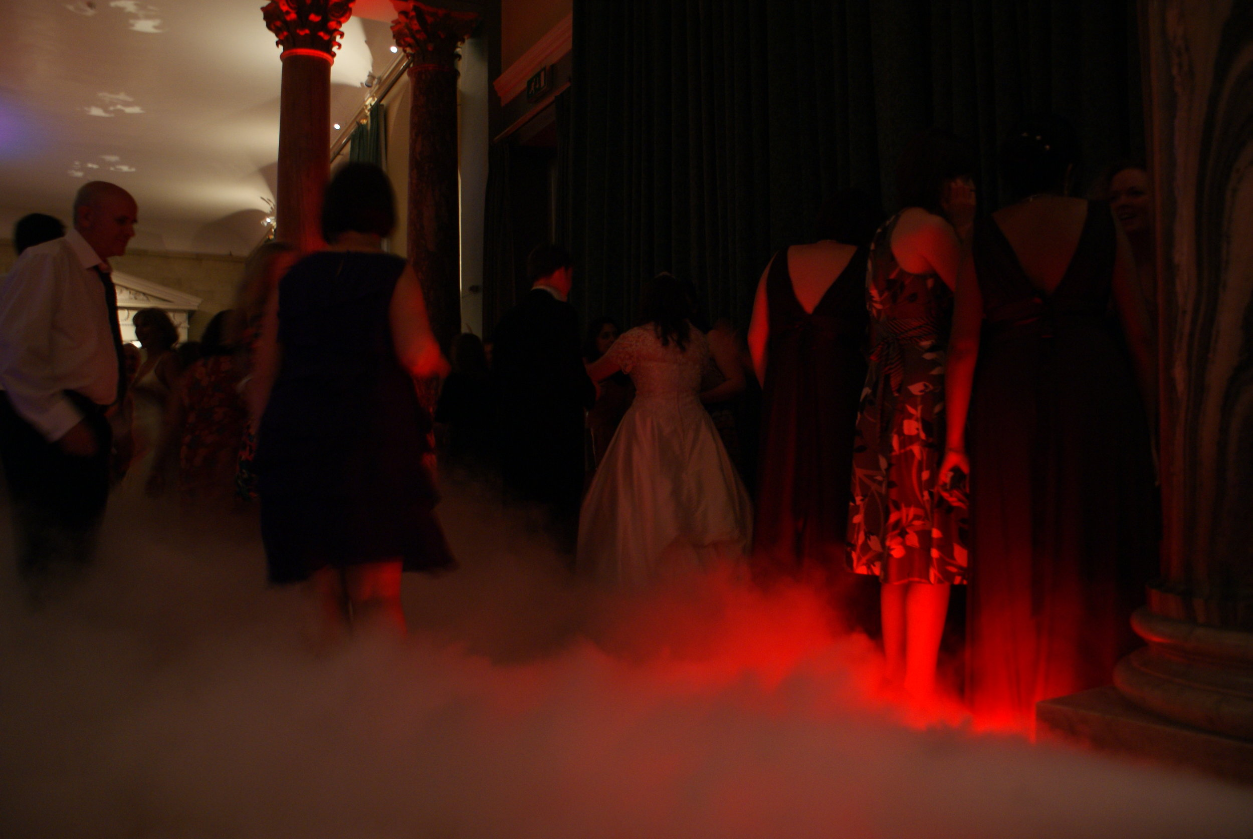 Dry ice for your first dance - magical moments for your wedding day at The Sculpture Gallery