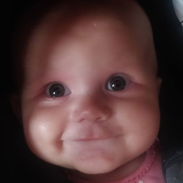 This Bambino actually makes my heart melt - literally 30 seconds since she woke up & this awesome beamer of a smile ! #justwokeup #cutestbaby #babydj #notdjreleated #nofilter #prouddadto4girlies