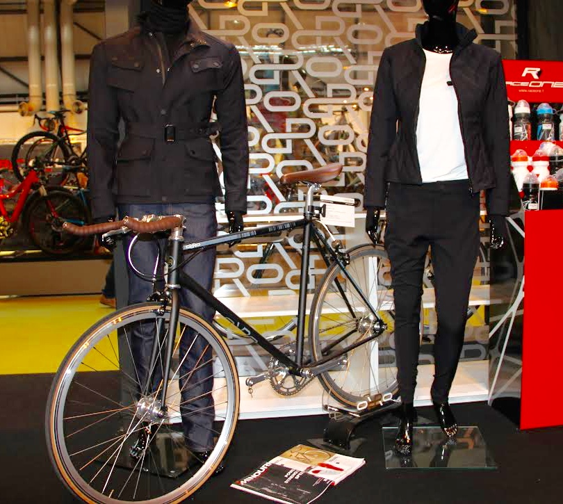 Our favourite Urban Cycle Wear exhibitor at the Cycle Show was  Fox Wilson from Orro Bikes . This technical clothing is inspired by equestrian design and features jodhpurs for cycling as well as water-resistant jeans and chinos. We're looking forward to the full range being on sale later in the year.