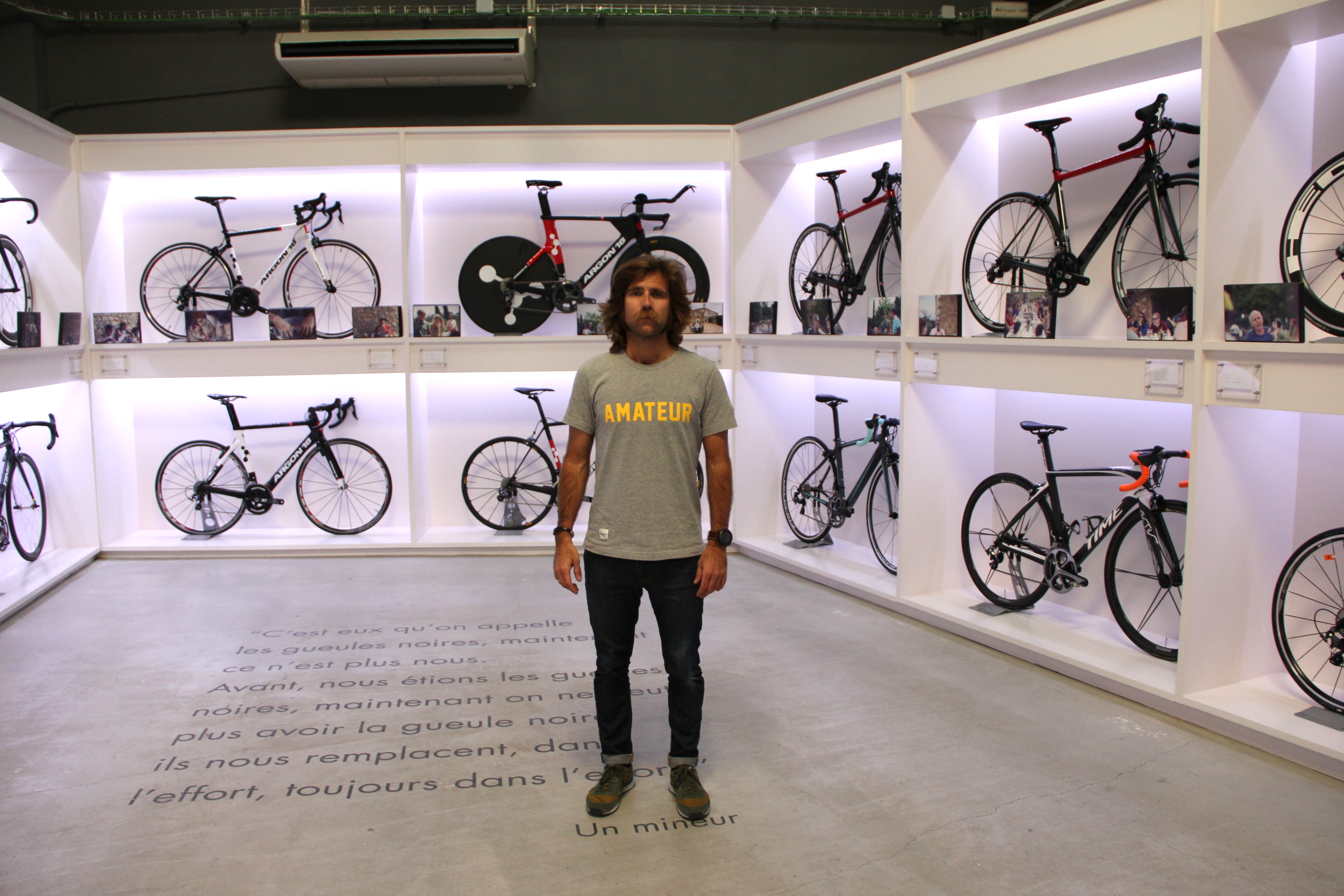 Javier Maya in his shop, Pavé.It's anything but amateur