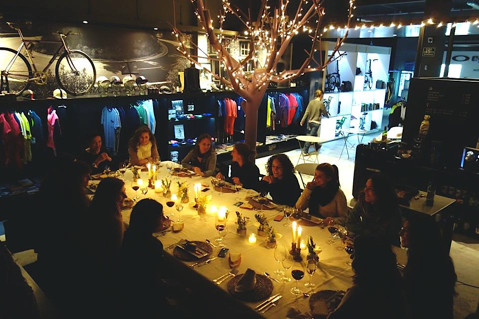 One of Pavé's exclusive monthly dinners for Méchants and Rebelles
