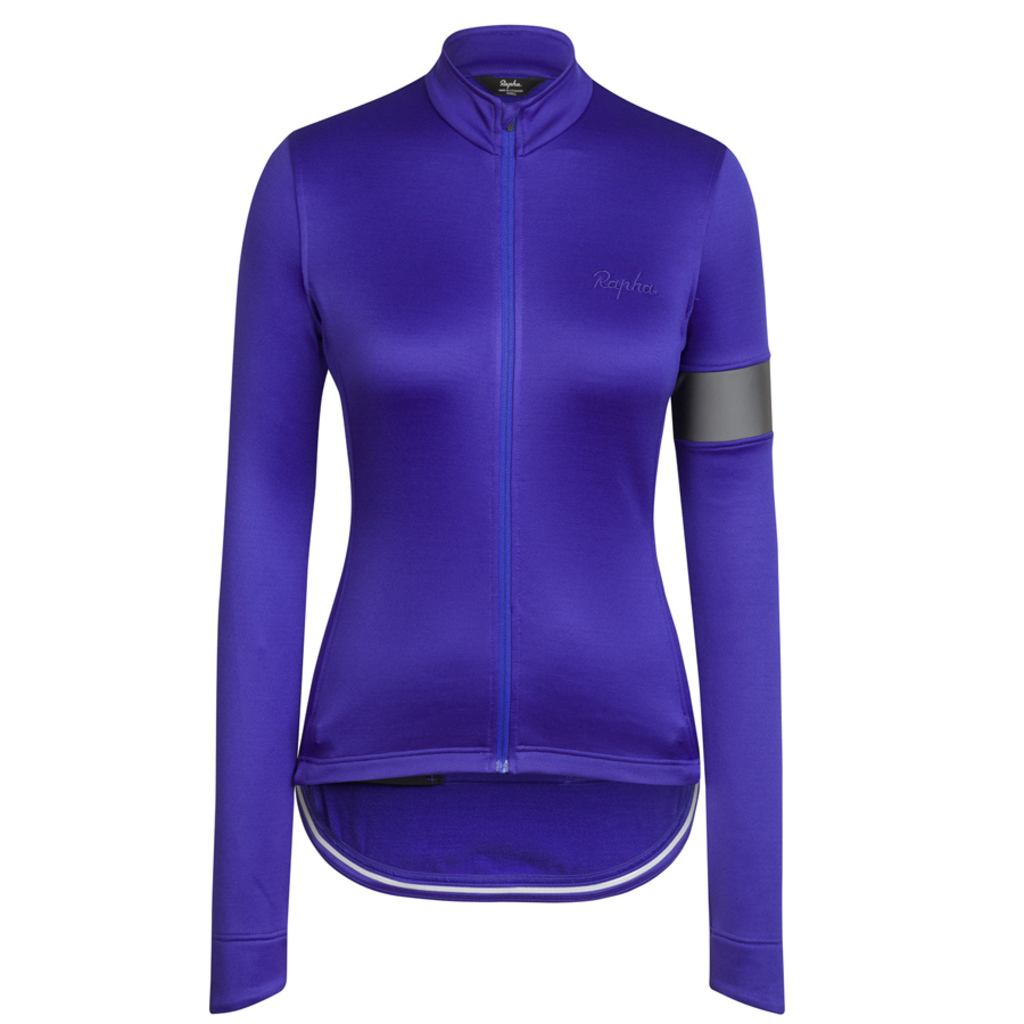 Rapha women's winter jersey featuring a reflective arm band £140