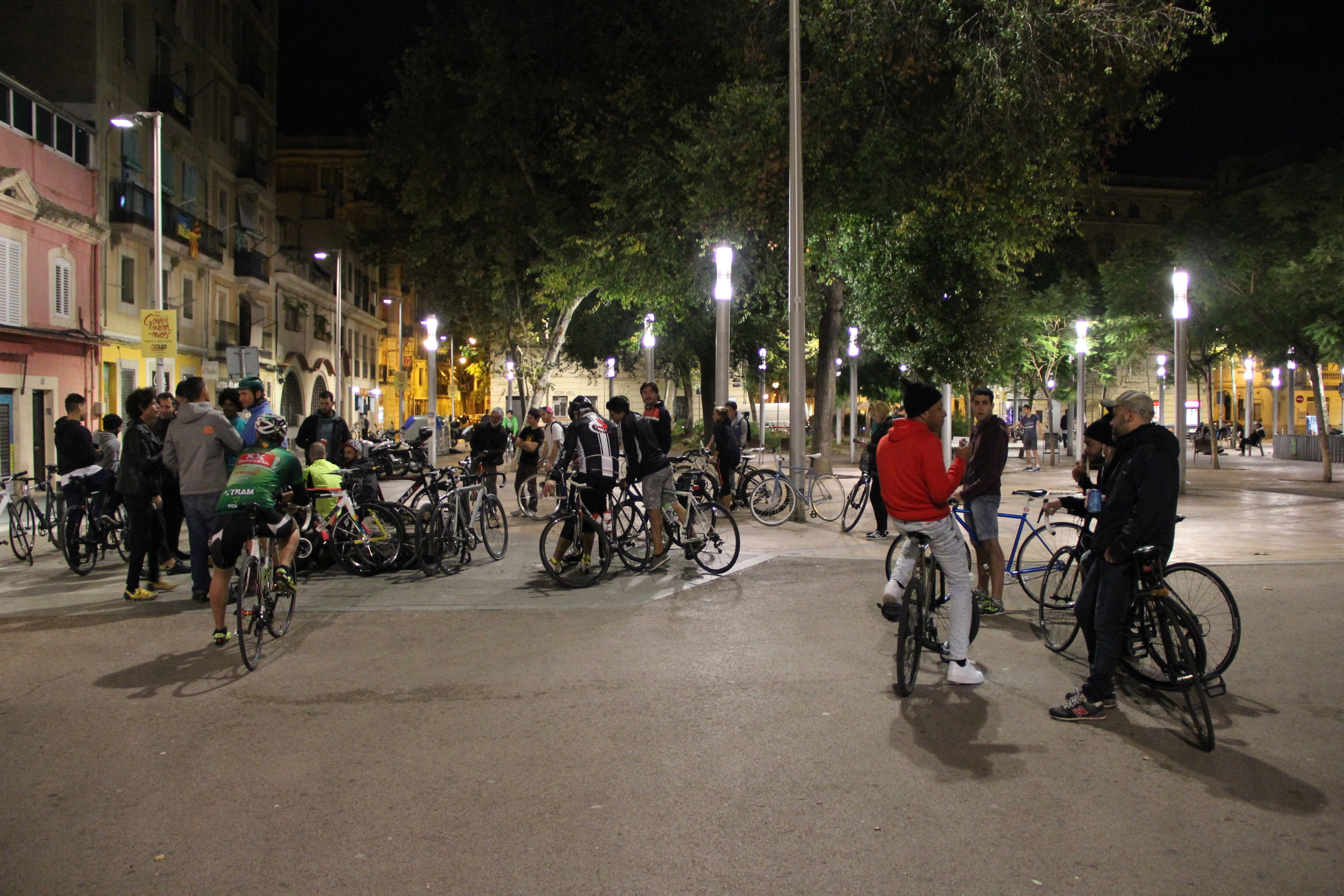 A world away from the touristy beach, Barceloneta's main square
