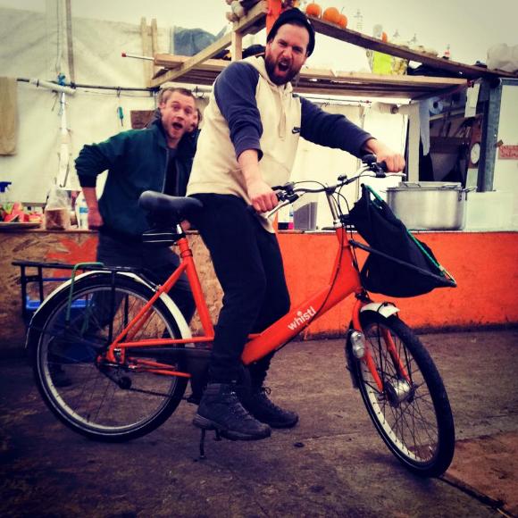 The new Ashram Kitchen bike donation