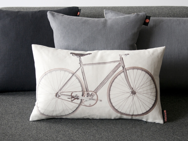 Designer Ella Doran's bicycle cushion - a favourite with Ride Velo's cat