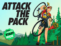 The cut-throat world of the Peleton is recreated in the Attack the Pack card game