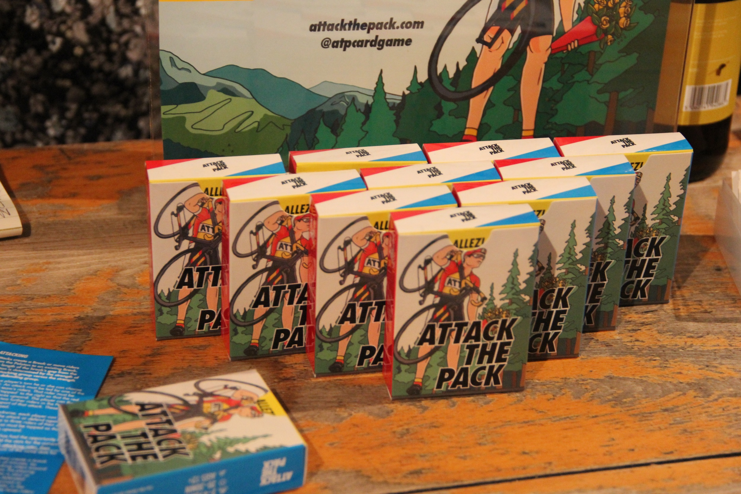 Attack the Pack - brings the experience of pro cycle racing to your jersey pocket