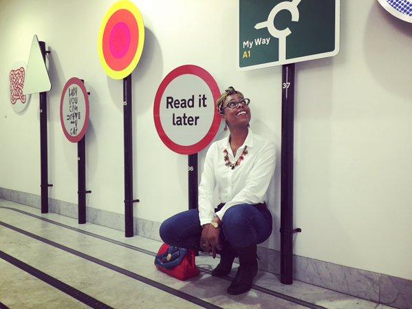 Jools Walker at the Design Museum doing it Her Way