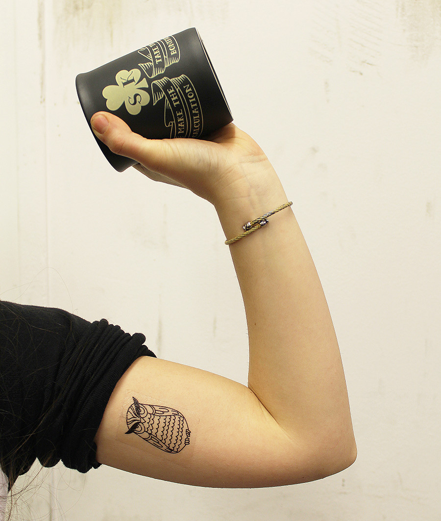 The Sean Kelly tribute mug comes with free temporary tattoos