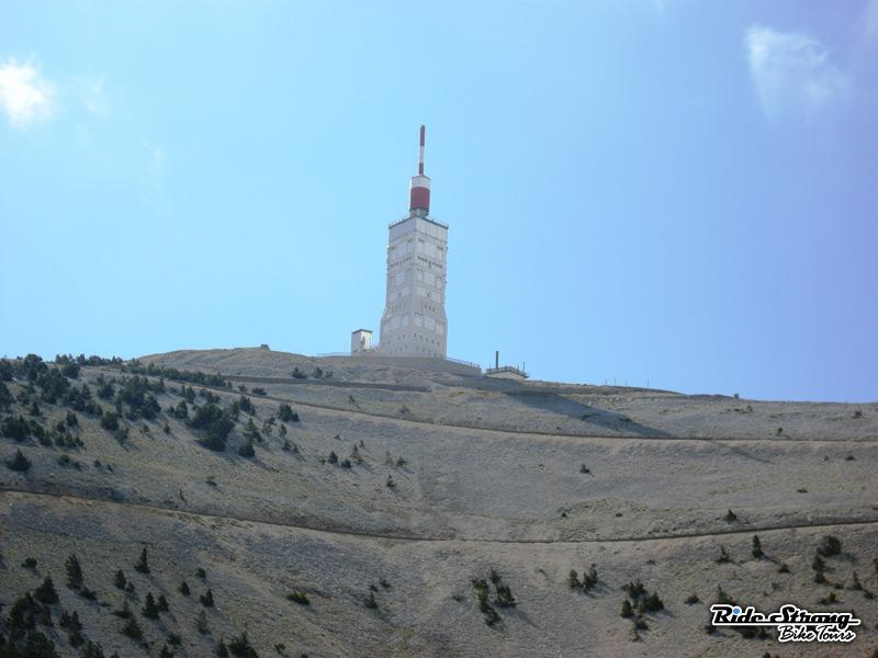 Mont Ventoux is in Provence in the South of France. No fields of lavender to be seen on this desolate mountainside though!