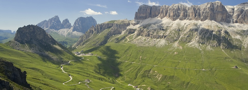 The Dolomite mountains with  Velo Veneto  offer stunning scenery and challenging climbs