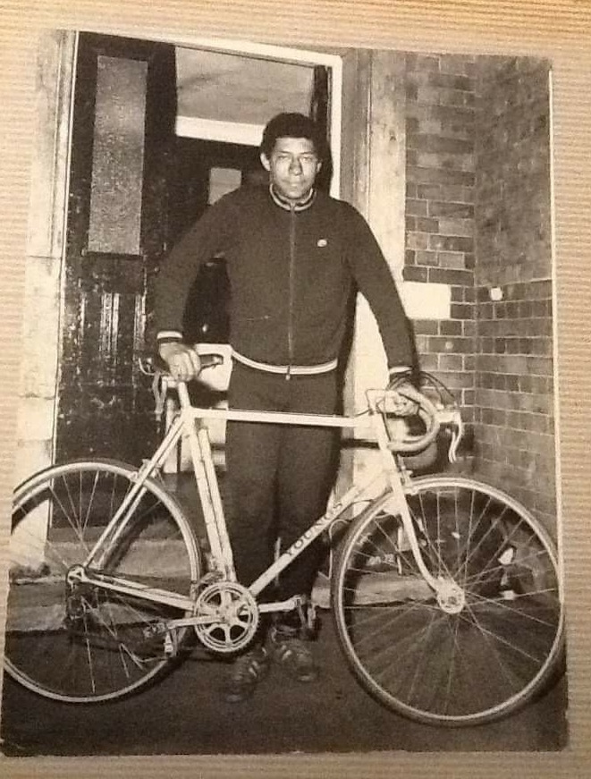 Maurice Burton with the Youngs tourer that he found dumped in a South London garden