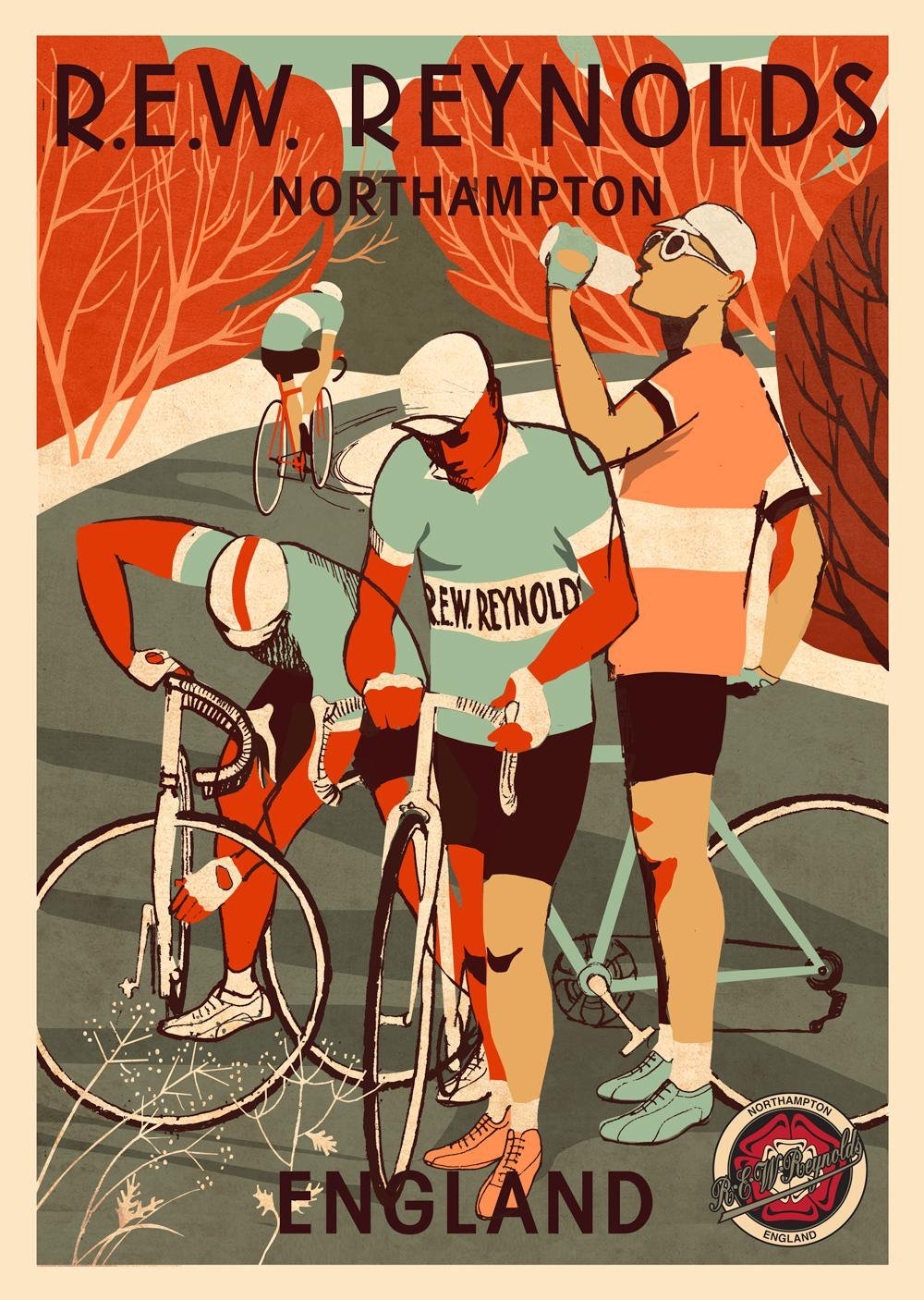 REW Reynolds poster designed by Eliza Southwood
