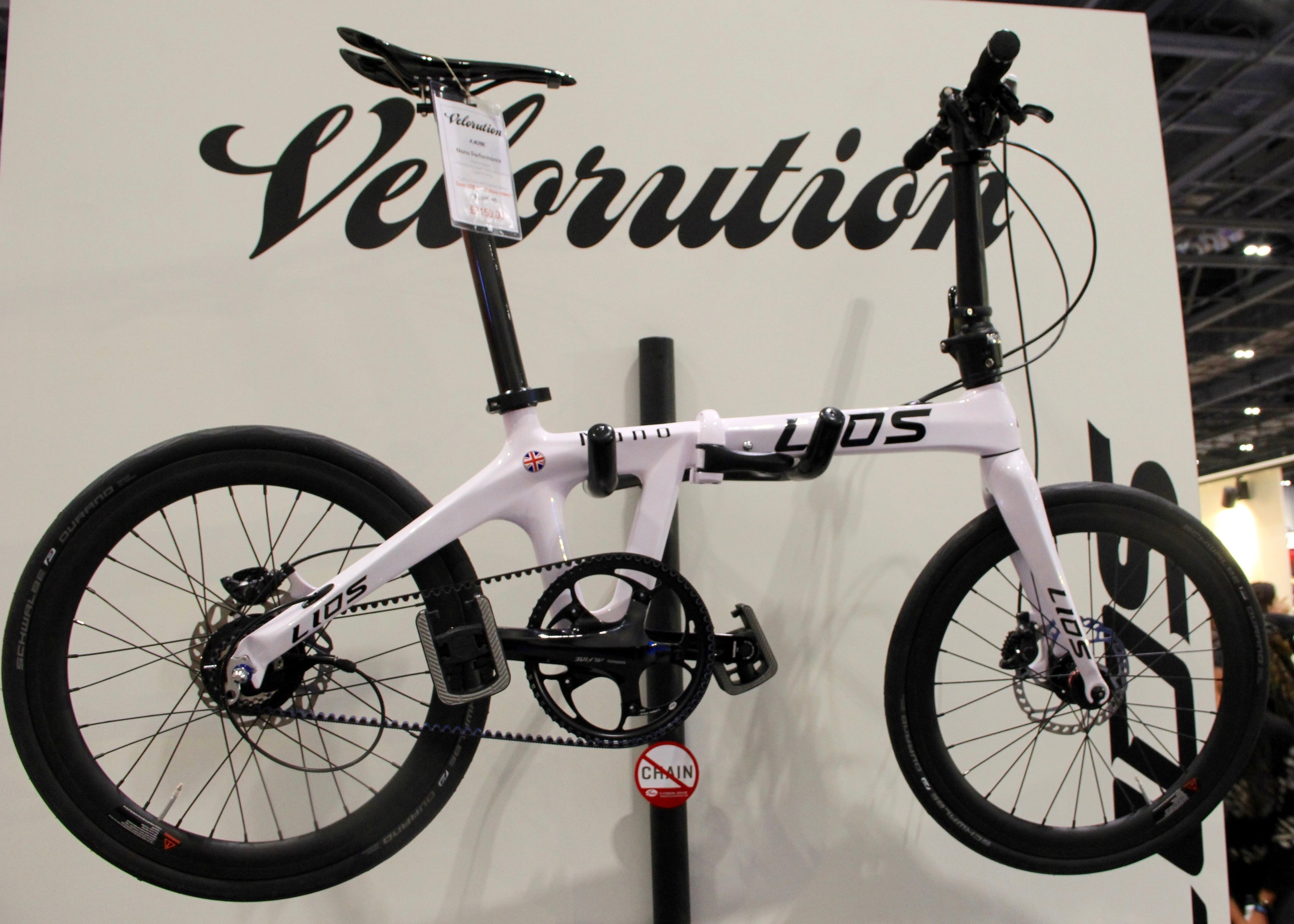 The all carbon folding bike by LIOS