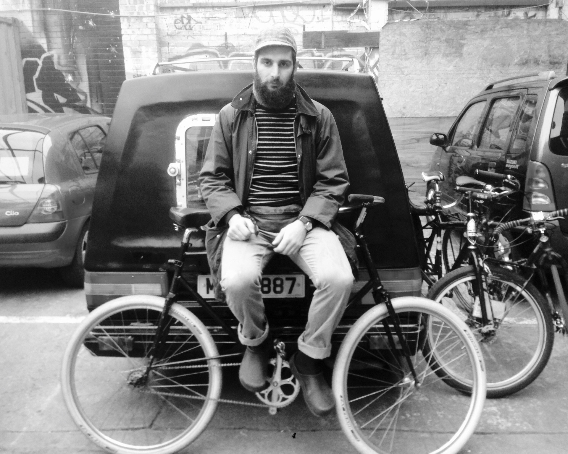 Petor Georgallou, his Edward Gorey inspired bike and Dear Susan hearse