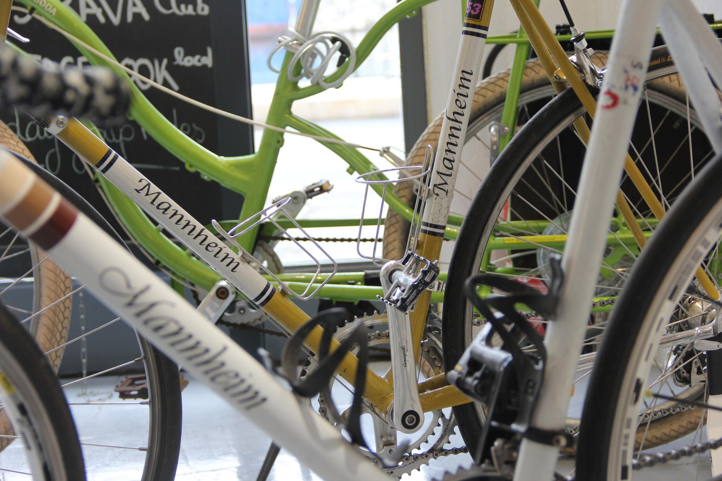 Rémi's personal bike collection