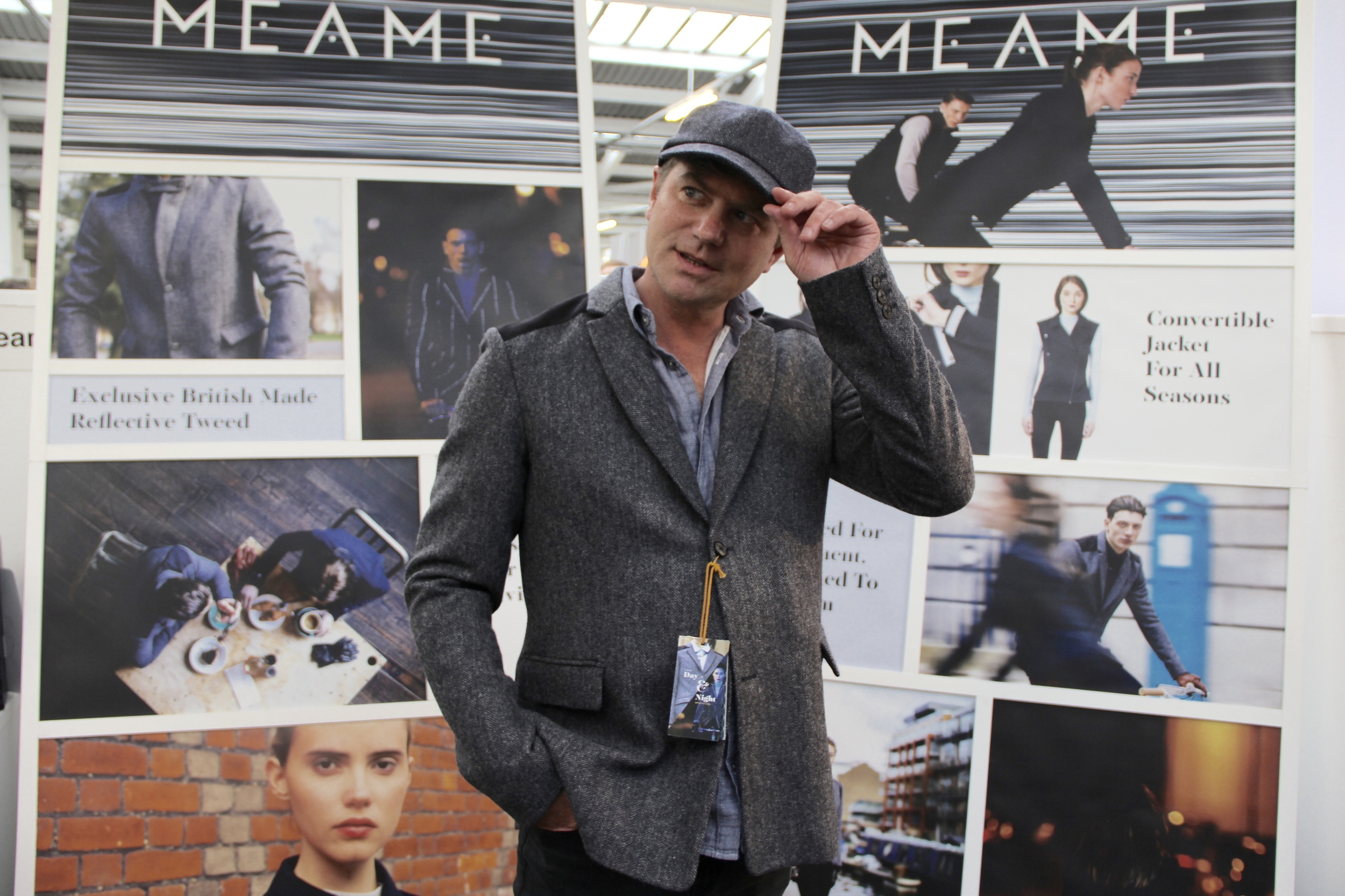 Robbie was keen to keep the  Meame  tweed jacket and matching cap £295 and £55 respectively