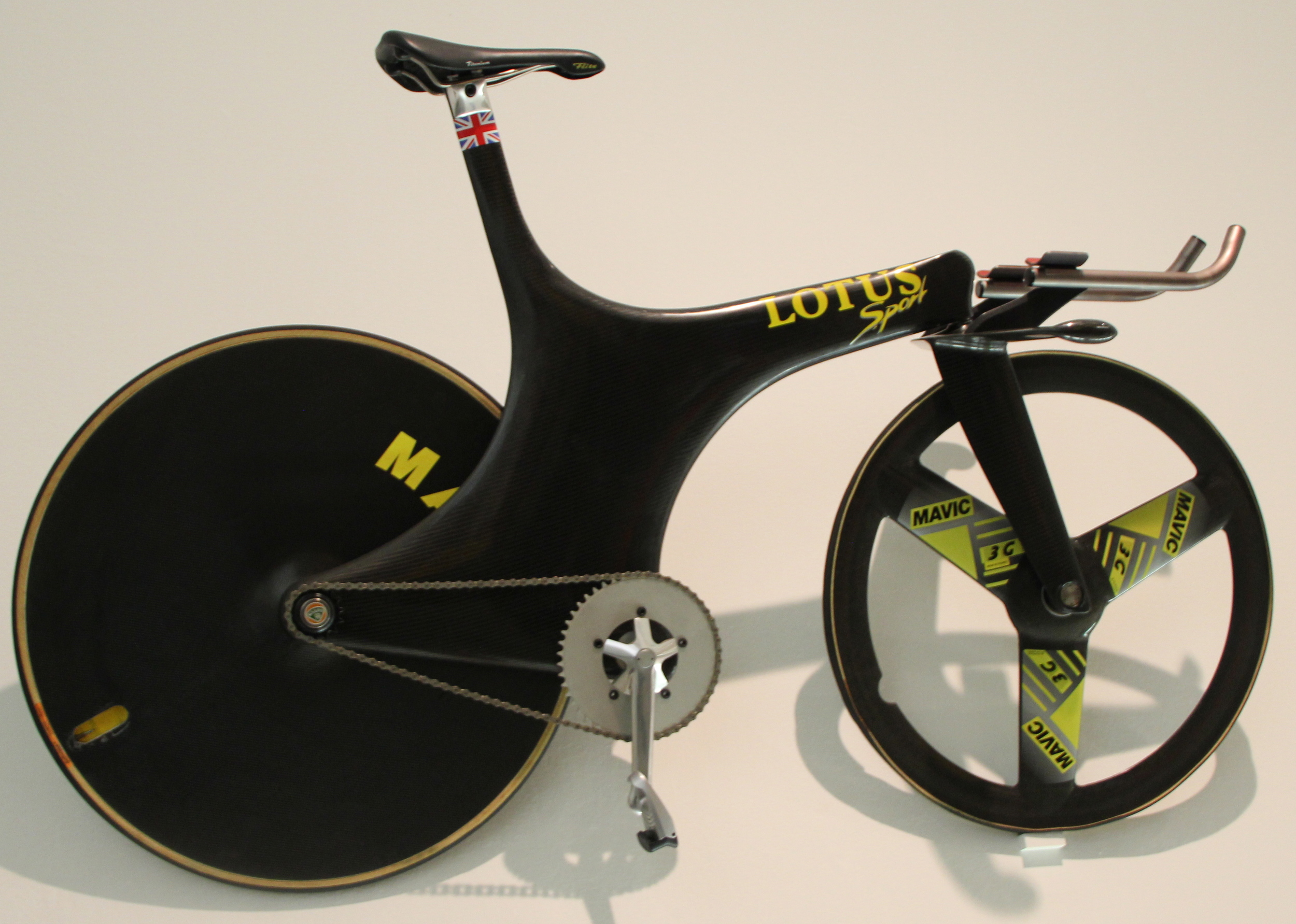 Boardman's famous Lotus hour record bike - later disallowed by the UCI