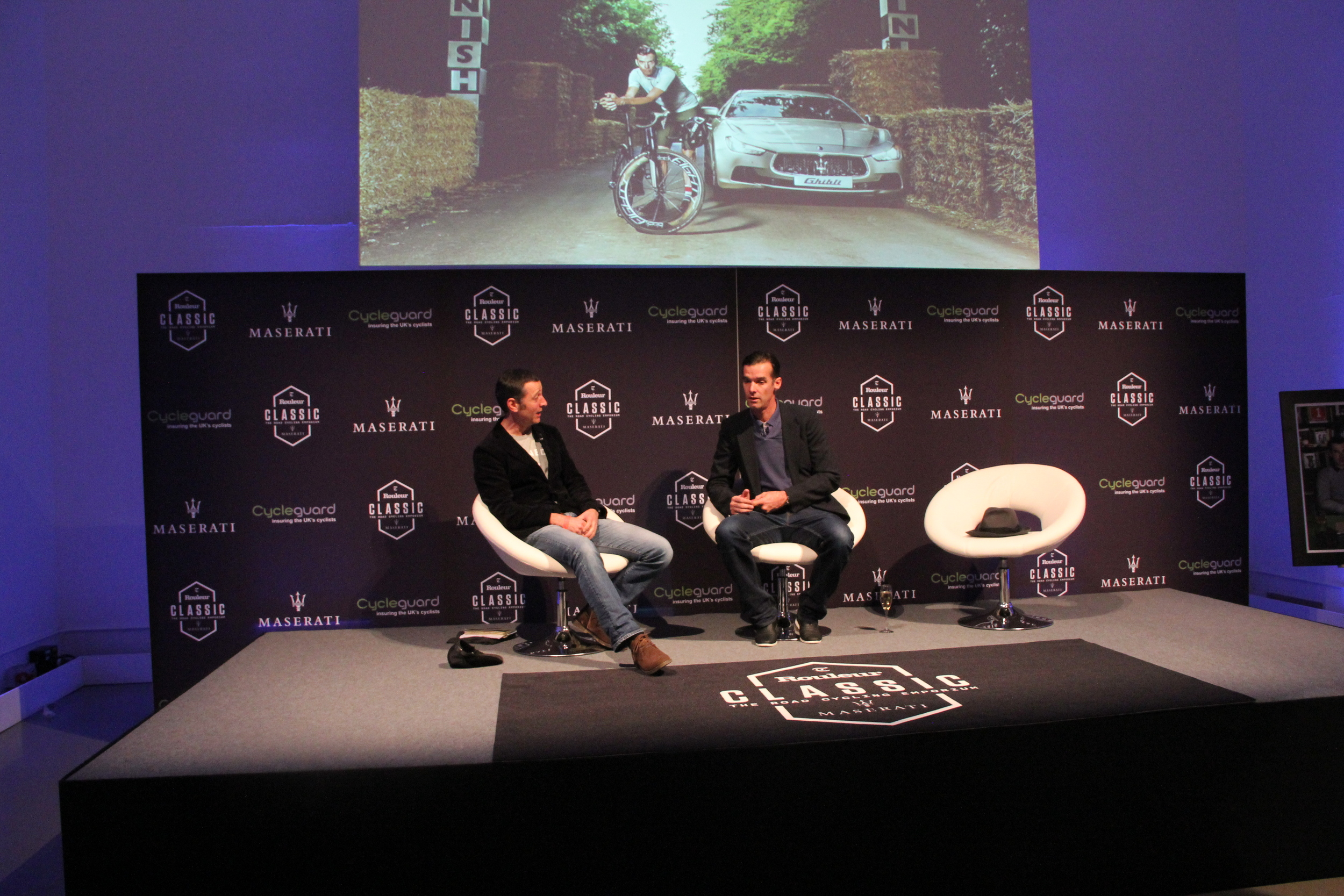 Boulting interviews David Millar at the Rouleur Classic event last year