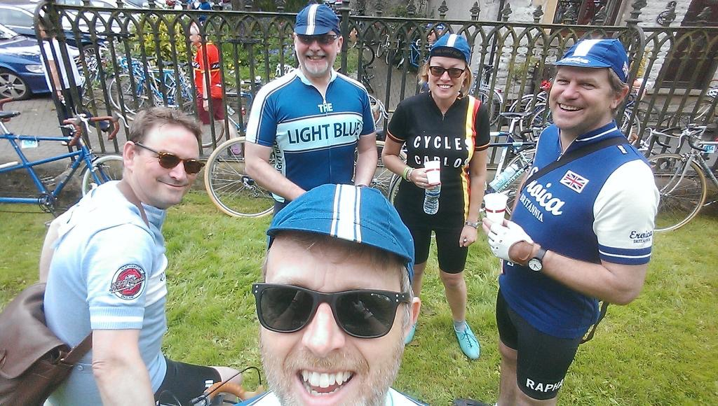 Ride Velo ride out with R.E.W. Reynolds, The Light Blue and Schwalbe